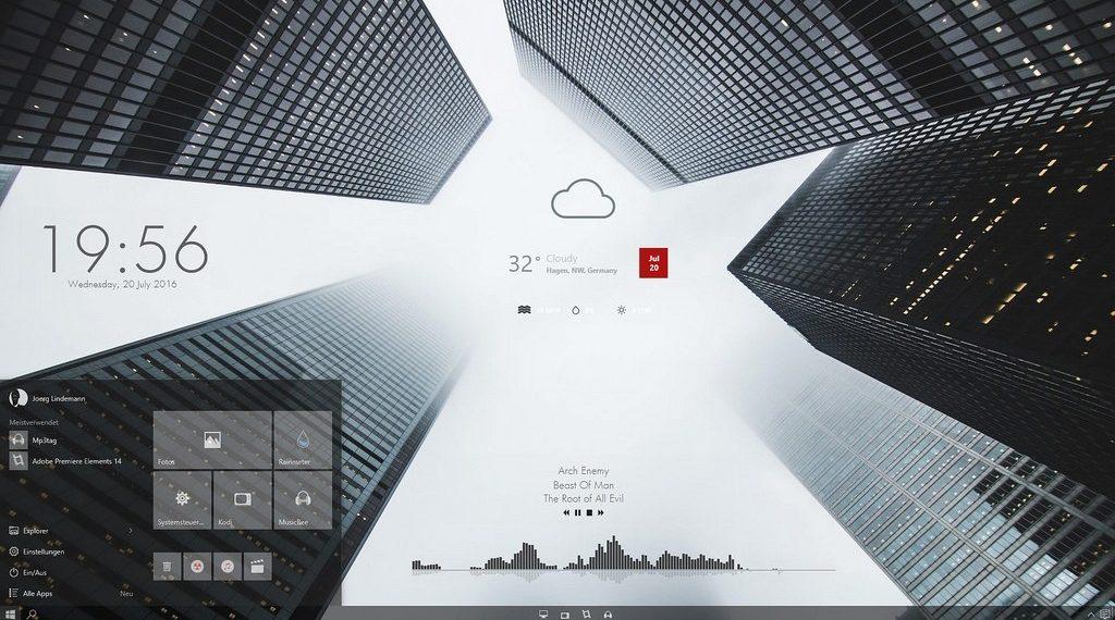 Más de 25 pieles RainMeter SKINs para Windows 10,8 1,7-Cientemas com