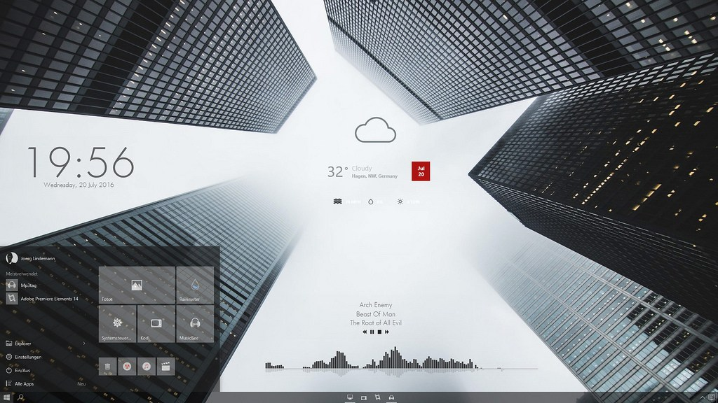 Más de 25 pieles RainMeter SKINs para Windows 10,8 1,7