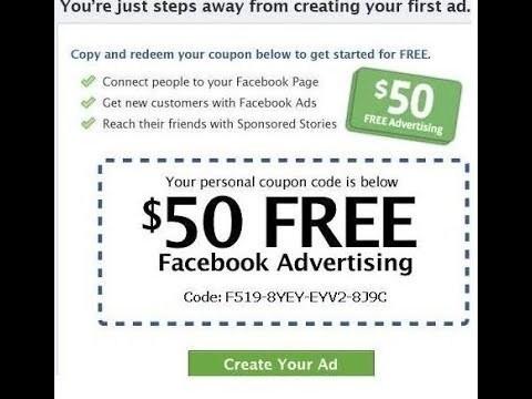 Cupón de anuncios de $ 50