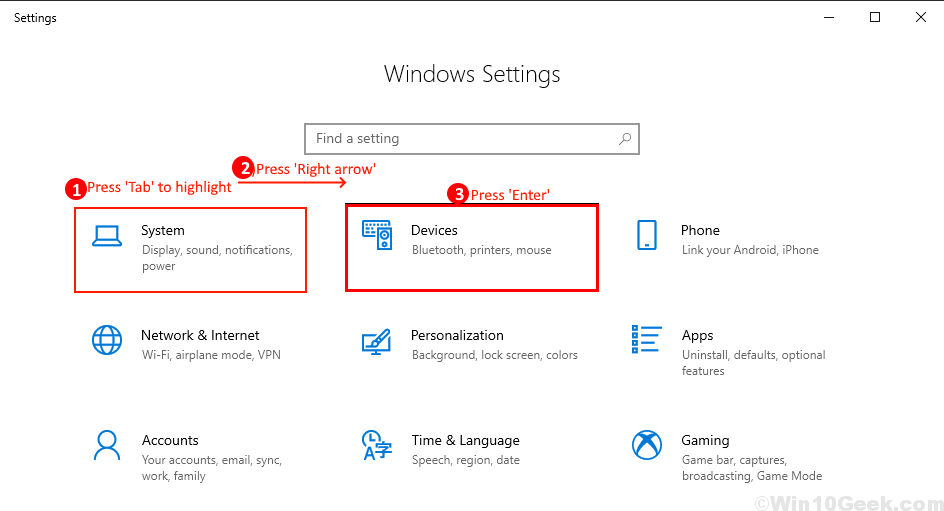 Configuración del mouse Nuevo