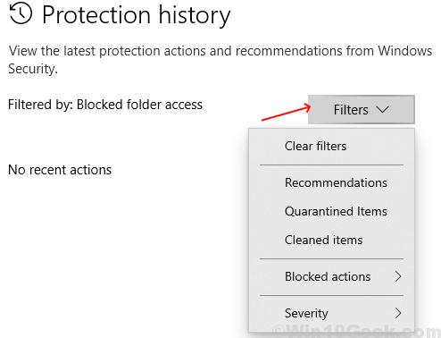 Historial de proteccion