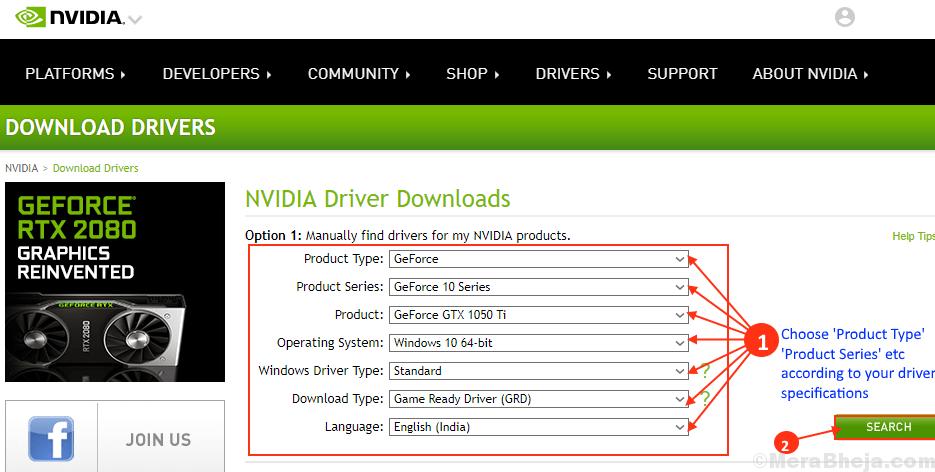 Actualización del controlador de Nvidia
