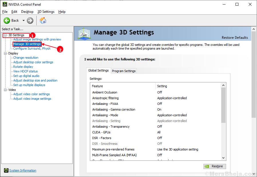 Configuración de 3d de gestión