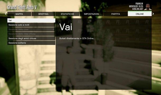 Inicie sesión en GTA Online